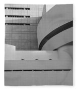 Shapes Of The Guggenheim In Black And White Fleece Blanket