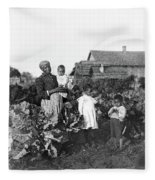 Sharecropper Family, 1902 Fleece Blanket