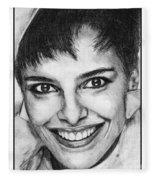 Shari Belafonte In 1985 Fleece Blanket