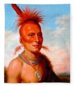 Sharitarish. Wicked Chief. Pawnee Fleece Blanket