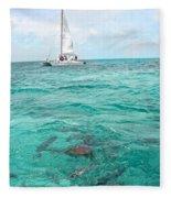 Shark N Sail I Fleece Blanket