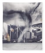 Sharknado Detroit Fleece Blanket