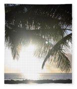 Sharks Cove Sunset Fleece Blanket