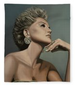 Sharon Stone Fleece Blanket