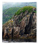 Sharp Jagged Rocks  Fleece Blanket
