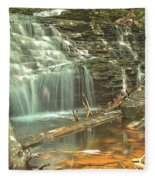 Shawnee Falls At Ricketts Glen Fleece Blanket