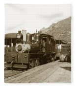 Shay No. 498 At The Summit Of Mt. Tamalpais Marin Co California Circa 1902 Fleece Blanket
