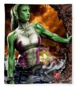 She-hulk Fleece Blanket