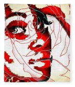 She Pop Art Rose Fleece Blanket