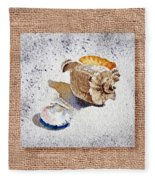 She Sells Sea Shells Decorative Collage Fleece Blanket