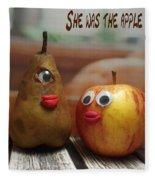 She Was The Apple Of His Eye Fleece Blanket
