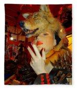 She Wolf Fleece Blanket