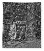 Shed Bw Fleece Blanket