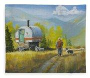 Sheep Camp Fleece Blanket