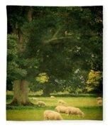 Sheep Grazing Fleece Blanket