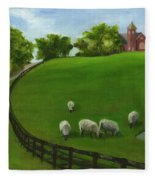Sheep May Safely Graze Fleece Blanket