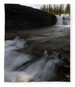 Sheep River Falls Alberta Canada 1 Fleece Blanket