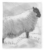 Sheep Sketch Fleece Blanket