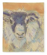 Sheep With Horns Fleece Blanket