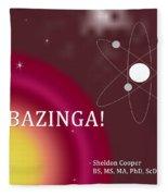 Sheldon Cooper Bazinga Fleece Blanket