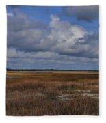 Shell Island To Figure Eight Panorama Fleece Blanket