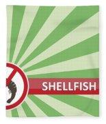 Shellfish Free Banner Fleece Blanket