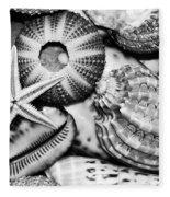 Shellscape In Monochrome Fleece Blanket