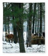 Sheltered In The Trees Fleece Blanket