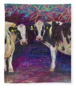 Sheltering Cows Fleece Blanket