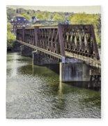 Shelton Derby Railroad Bridge Fleece Blanket