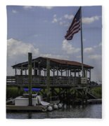 Shem Creek Bar And Grill Fleece Blanket