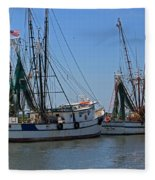 Shem Creek Shrimpers Fleece Blanket
