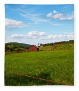 Shenandoah Farm Fleece Blanket