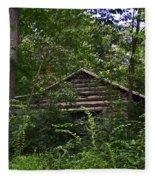 Shenandoah Log Cabin Fleece Blanket