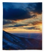 Shenandoah Sunset Fleece Blanket