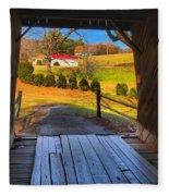 Shenandoah Virginia Covered Bridge Fleece Blanket