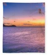 Sherri's Sunset St. Lucia Fleece Blanket