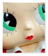 She's Got Betty Boop Eyes Fleece Blanket