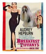 Shih Tzu Art - Breakfast At Tiffany Movie Poster Fleece Blanket