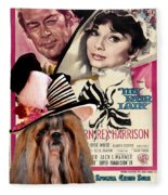 Shih Tzu Art - My Fair Lady Movie Poster Fleece Blanket
