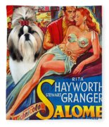 Shih Tzu Art - Salome Movie Poster Fleece Blanket
