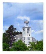 Shiloh Chapel Durham Maine Fleece Blanket