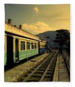 Shimla Railway Station Fleece Blanket