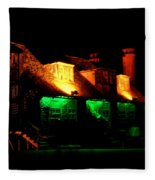 Shimla At Night Fleece Blanket