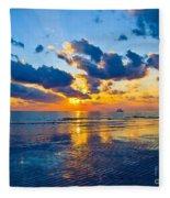 Shimmering Sundown Fleece Blanket