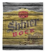 Shiner Bock Fleece Blanket