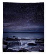 Shining In Darkness Fleece Blanket by Jorge Maia