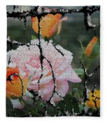Shinning Roses Photo Manipulation Fleece Blanket