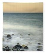 Shiny Rocks At The Sea Fleece Blanket