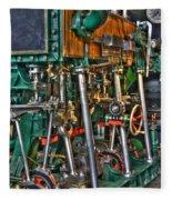 Ship Engine Fleece Blanket